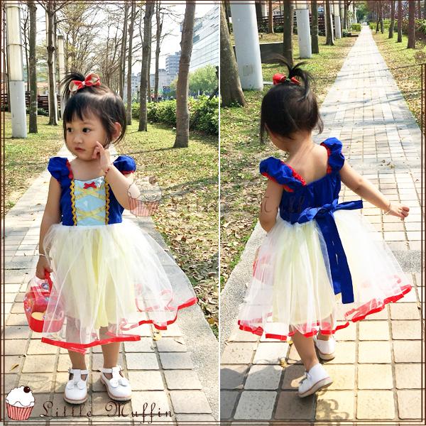蓬蓬裙 白雪公主造型多層紗裙綁帶洋裝 連身裙/小禮服/花童禮服