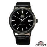 ORIENT 當代時尚黑鋼自動上鍊機械腕錶-黑x41mm FER27001B0