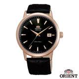 ORIENT 當代時尚玫瑰金自動上鍊機械腕錶-黑x41mm FER27002B0