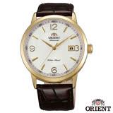ORIENT 英倫爵士自動上鍊機械腕錶-白x41mm FER27004W0