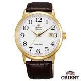 ORIENT 英倫風尚自動上鍊機械腕錶-白x41mm FER27005W0