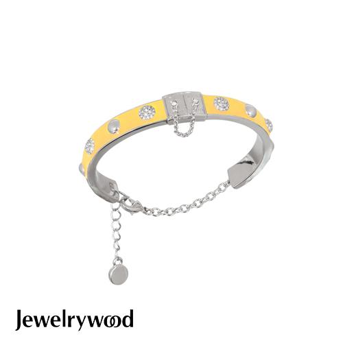 Jewelrywood 都會亮麗黃色釉彩手鐲