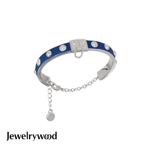 Jewelrywood 都會亮麗藍色釉彩手鐲