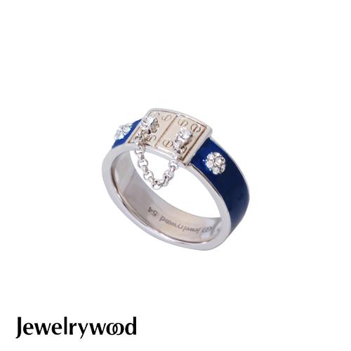 Jewelrywood 都會亮麗藍色釉彩戒指