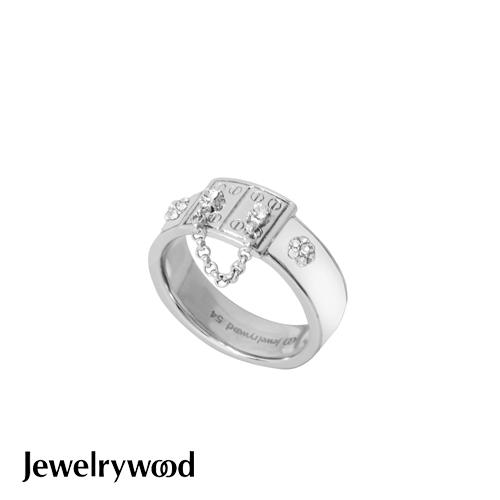 Jewelrywood 都會亮麗白色釉彩戒指