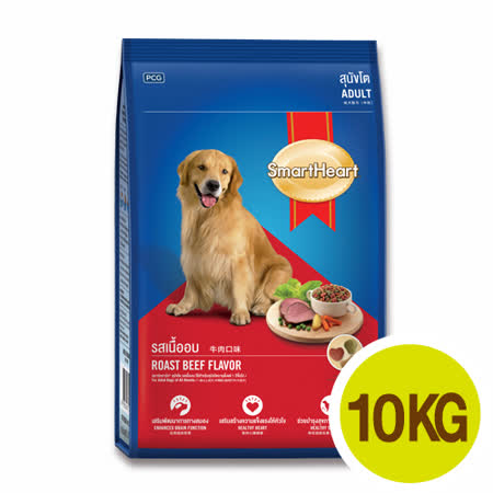 SmartHeart慧心犬糧 成犬-牛肉口味10kgx2包