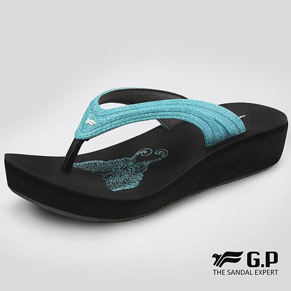 【G.P 女款亮蔥厚底夾腳拖鞋】G8523W-水藍色(SIZE:35-39 共四色)