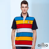 歐洲貴族oillio POLO領衫 優雅帥氣 拼接潮流 多色系