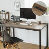 Peachy life 工業風附插座電腦桌128cm/辦公桌/書桌/工作桌