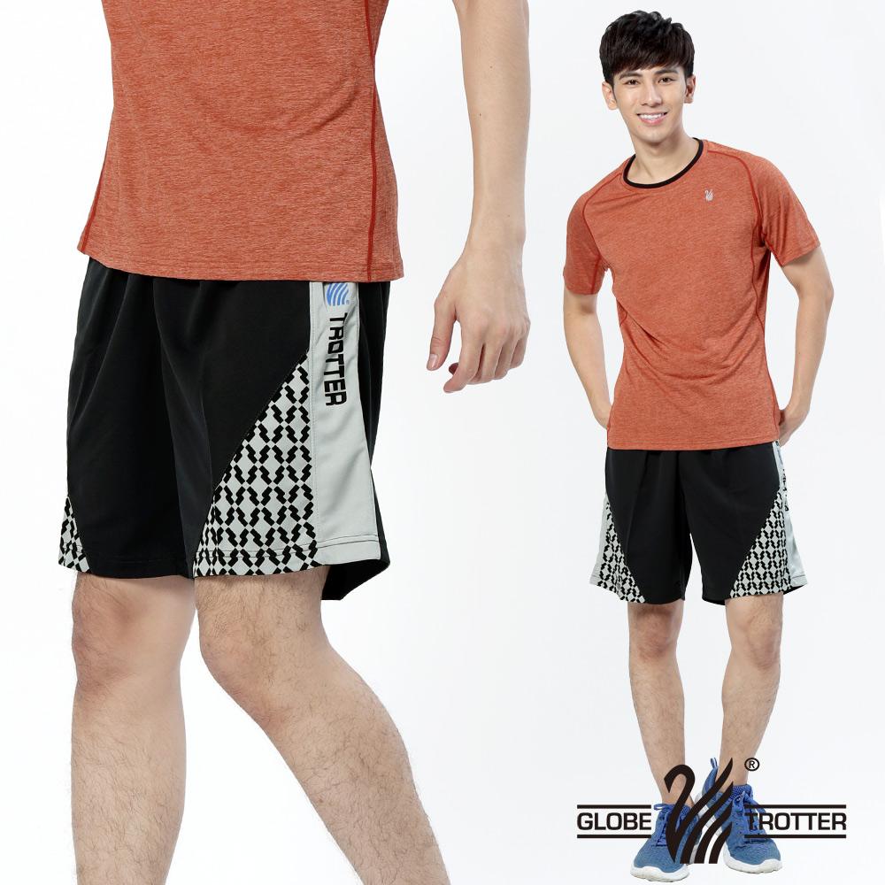 【遊遍天下】MIT台灣製男款吸濕排汗透氣藍球短褲P122A黑色