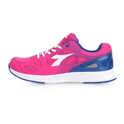 (女) DIADORA 慢跑鞋-訓練 健身 路跑 反光 桃紅白