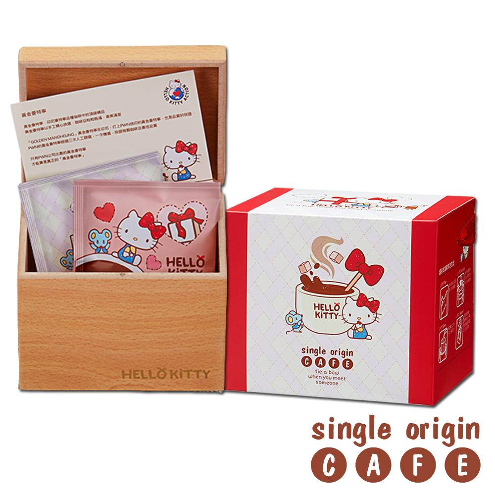Hello Kitty 濾掛咖啡 木箱禮盒(黃金曼特寧)