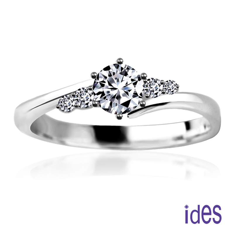 ides愛蒂思 摯愛系列30分E/VVS1八心八箭完美車工鑽石戒指/求婚結婚戒