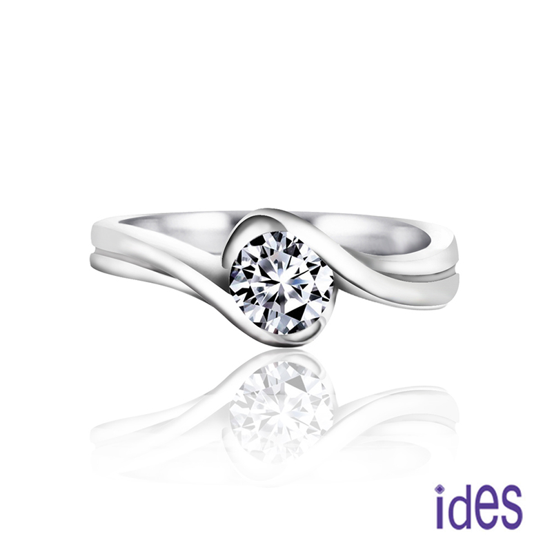 ides愛蒂思 精選50分E/VVS1八心八箭完美車工鑽石戒指/求婚結婚戒
