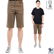 【NST Jeans】日本布料_沉穩馬鞍棕色 休閒短褲(中腰) 390(9423)
