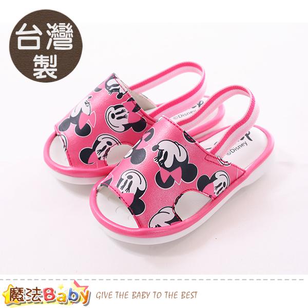 魔法Baby  寶寶鞋 台灣製迪士尼米妮正版幼兒嗶嗶鞋 sk0315