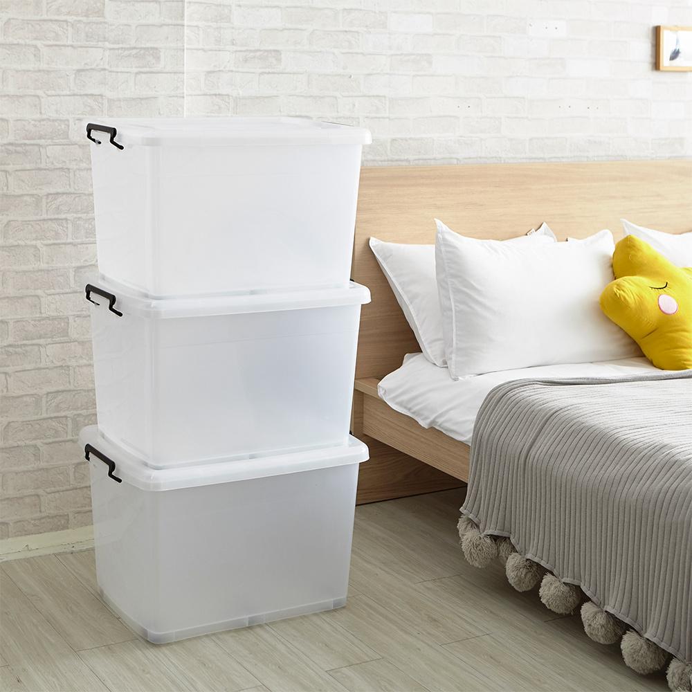 【ikloo】簡約多用途滑輪收納箱/整理箱90L(9入組)