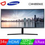 Samsung三星 C34H890WJE 34型VA曲面100Hz液晶螢幕