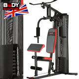 【BODY SCULPTURE】配重片150磅綜合重量訓練機(附護網+二頭肌板)MC016-4302