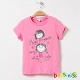 bossini女童-印花短袖T恤06嫩粉