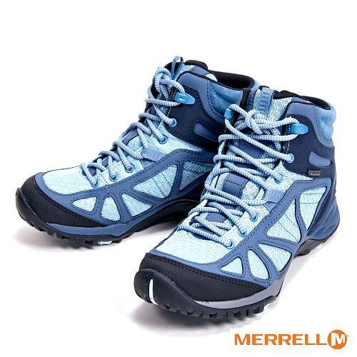 MERRELL Siren Sport Q2 Mid Gore-Tex 高筒登山鞋 女鞋-水藍色  ML12424