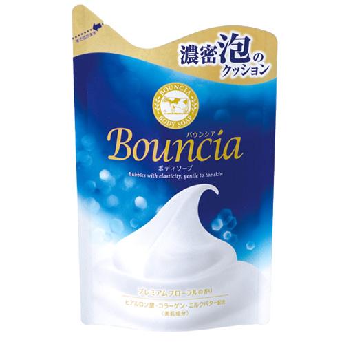 日本COW牛乳石鹼 美肌保濕沐浴乳補充包(優雅花香)430ml