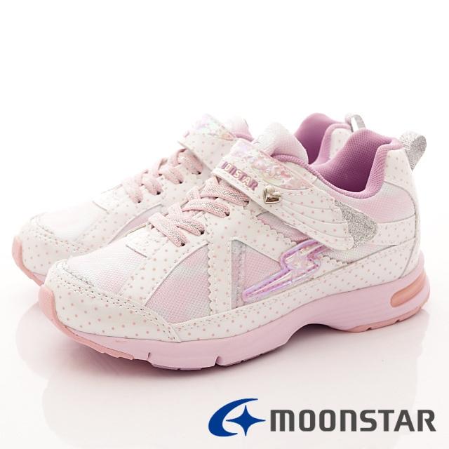 日本月星競速機能童鞋--甜心競速運動款-(SSJ8051白-19-24.5cm)