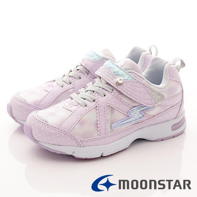 日本月星競速機能童鞋--甜心競速運動款-(SSJ8057紫-19-24.5cm)