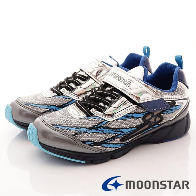 日本月星競速機能童鞋--競速運動款-(SSJ8231銀-19-24.5cm)