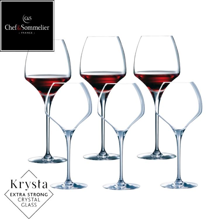 C&S OPEN UP玻璃水晶紅酒杯370cc-六入組