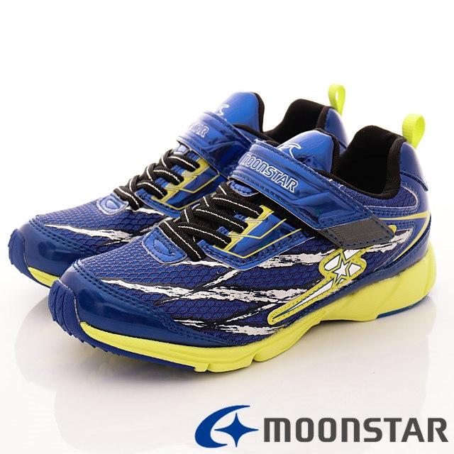 日本月星競速機能童鞋--競速運動款-(SSJ8235藍-19-24.5cm)