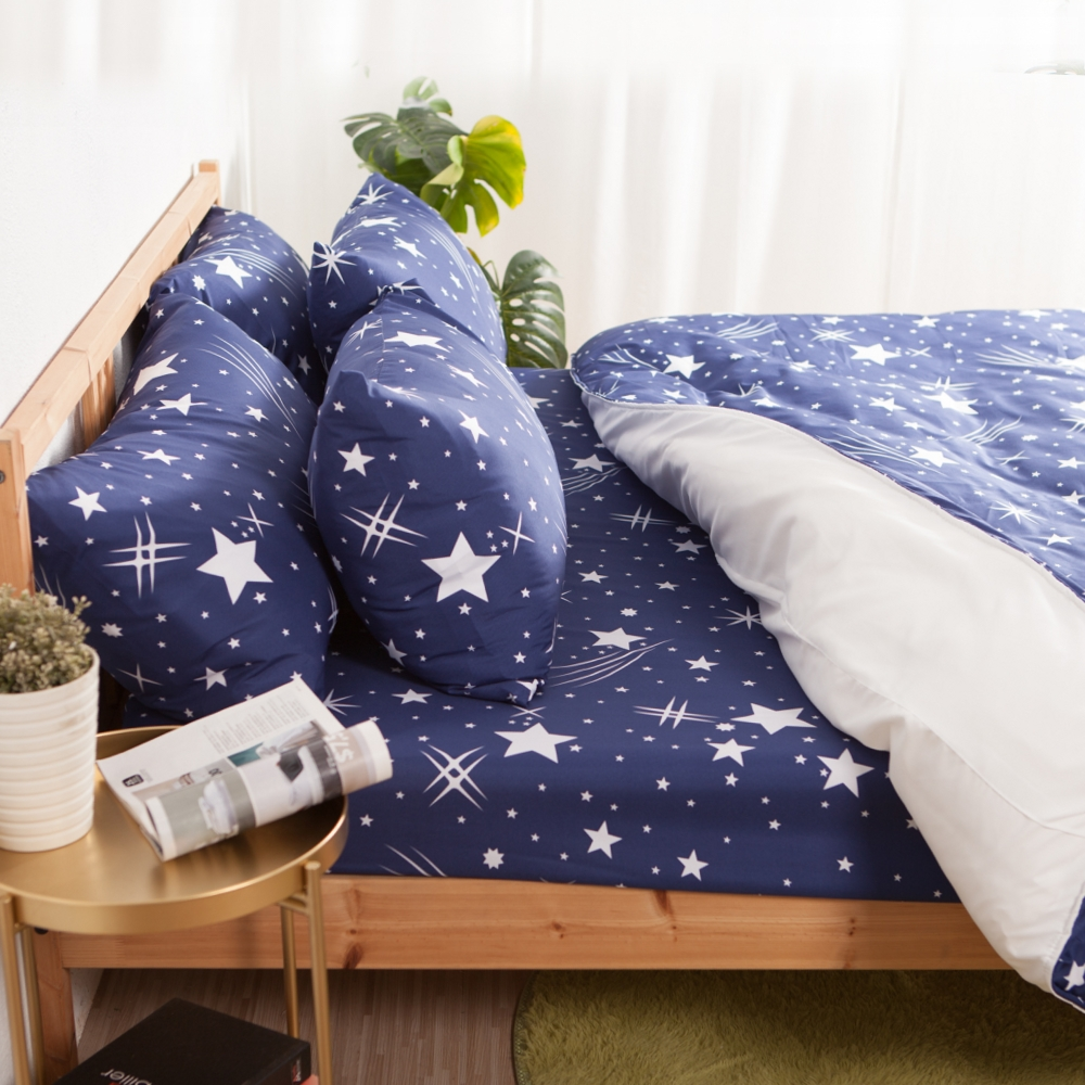 LUST寢具 【新生活eazy系列-英格萊蘭】雙人5X6.2-/床包/枕套組、台灣製