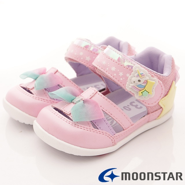 日本Carrot機能童鞋--WagaMama系列甜心款-(B1034粉-13-14.5cm)