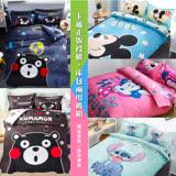 【I-JIA Bedding】(任選一組)日本授權-迪士尼卡通床包兩用被套組