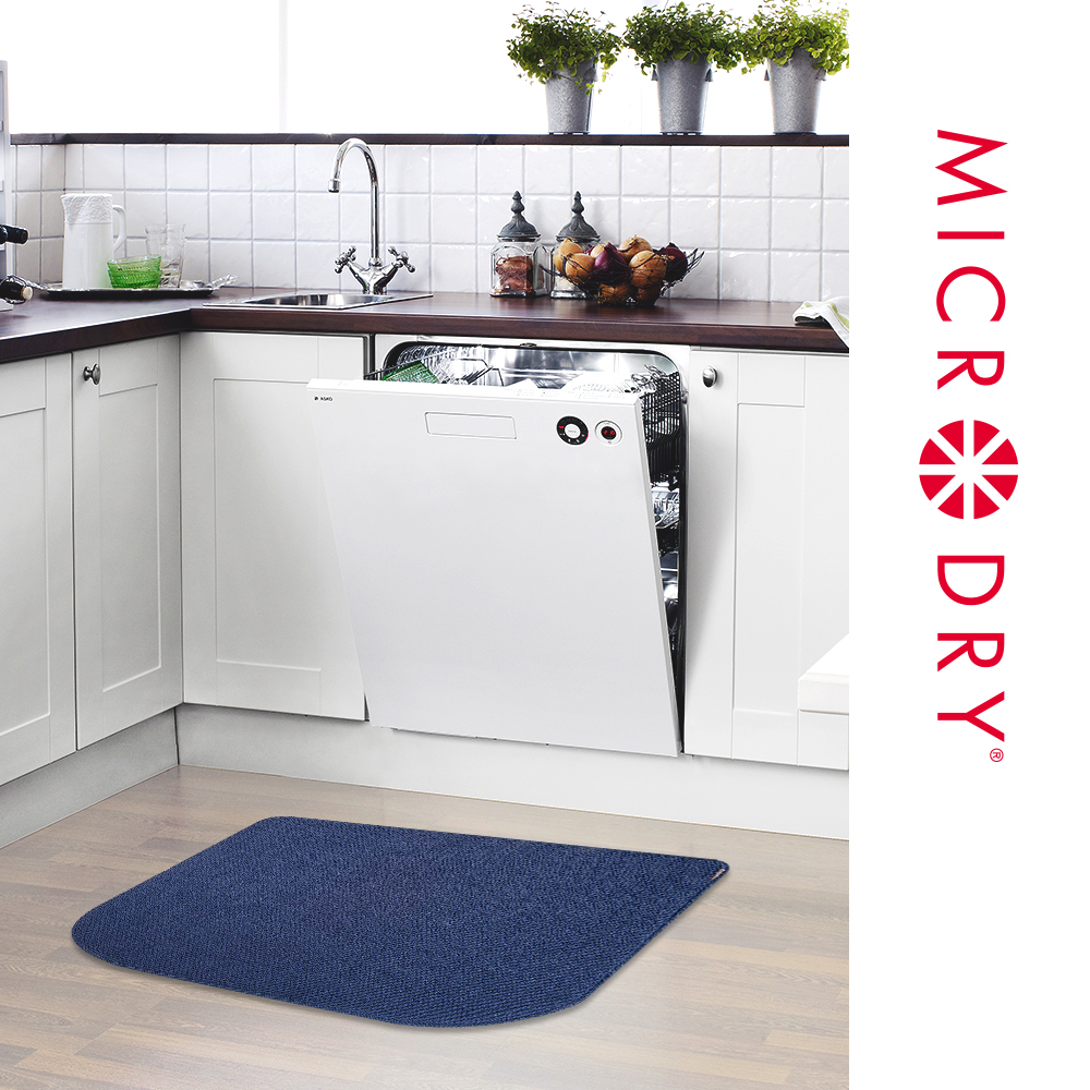 MICRODRY 舒適多功能地墊-單寧藍/56x81cm