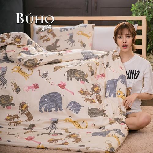 BUHO《可愛出任務》雙人三件式精梳純棉床包組