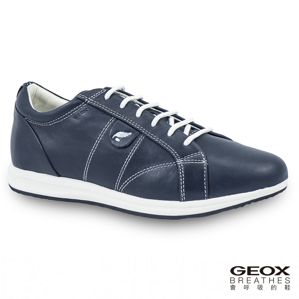 GEOX - D AVERY A  休閒鞋  牛皮 海軍藍(D52H5A000854002)