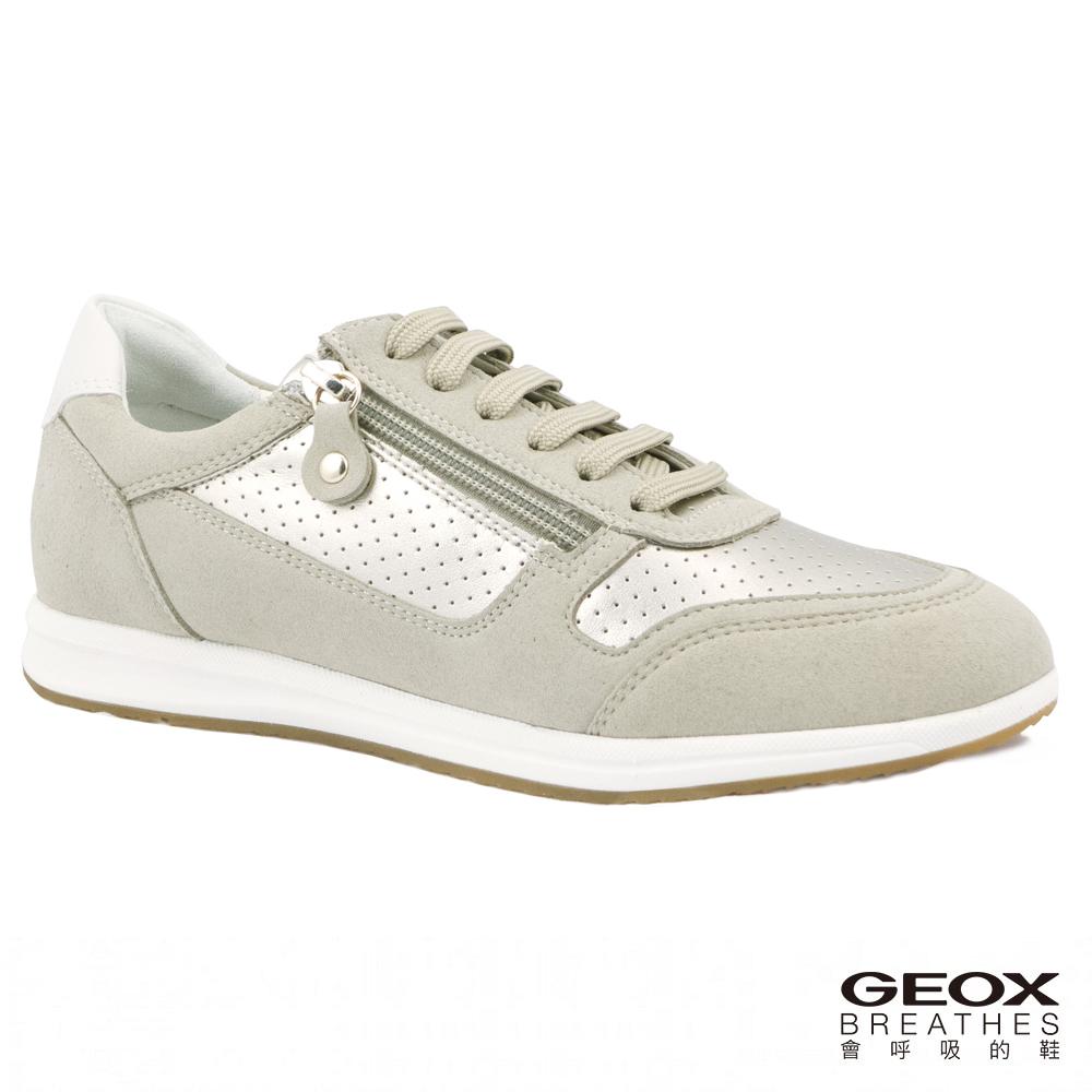 GEOX - D AVERY A  休閒運動鞋  淡金色/米色(D74H5A0AJAU2235)
