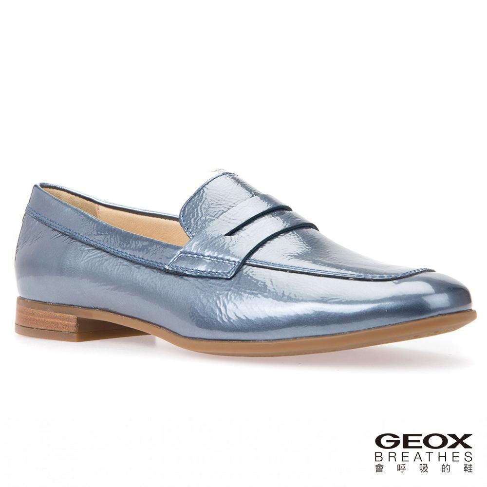GEOX - D MARLYNA B  義大利莫卡辛鞋  牛漆皮 海軍藍(D828PB000HE4002)