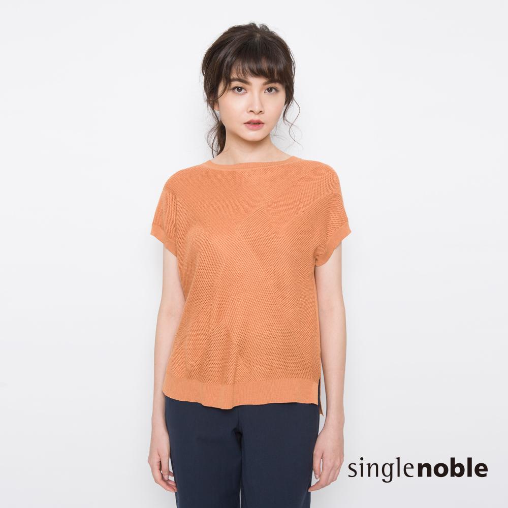 獨身貴族 俐落簡約細網織紋針織衫(3色)