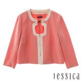 【JESSICA】經典剪裁設計外套(粉)