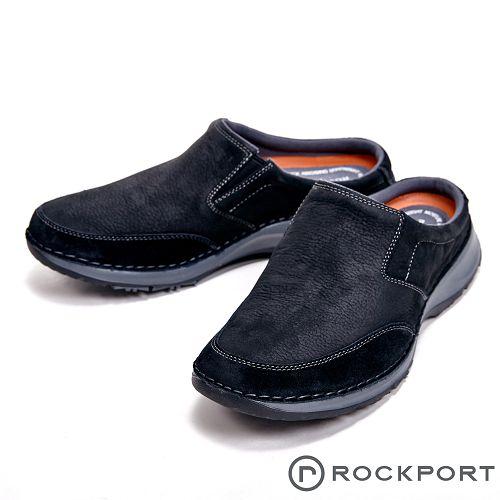 Rockport 超輕盈輕量系列減震輕量休閒 男拖鞋-黑(另有咖)
