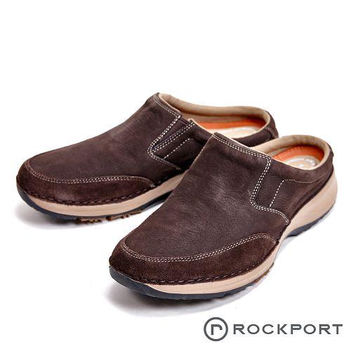 Rockport 超輕盈輕量系列減震輕量休閒 男拖鞋-咖(另有黑)