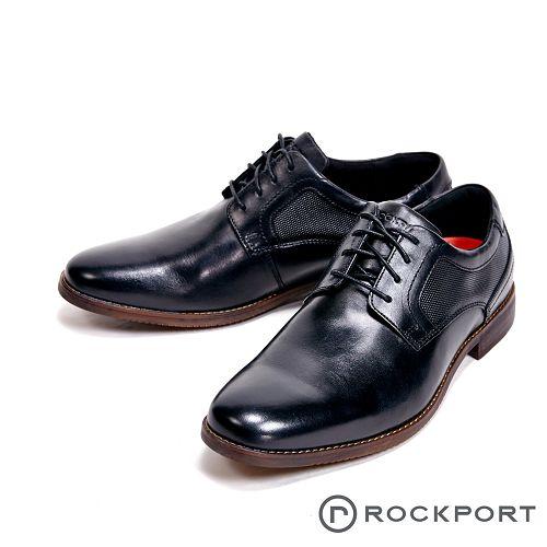 Rockport 都會雅仕系列木紋造型紳士皮鞋 男鞋-黑