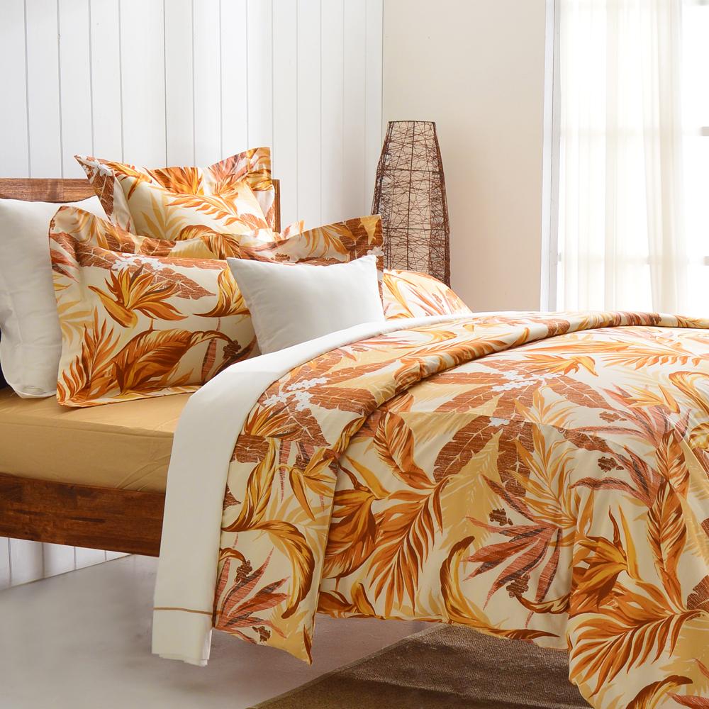 Cozy inn 天堂-咖 300織精梳棉四件式被套床包組(雙人)