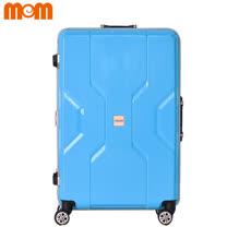 【MOMJAPAN】29吋 日系時尚 PP材質鋁框行李箱 (淡水藍3002A)