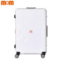 【MOMJAPAN】21吋 日系時尚 PP材質鋁框行李箱 (珍珠白3002C)