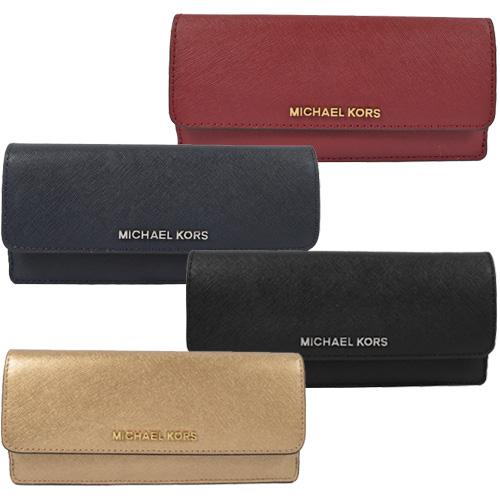 MICHAEL KORS 經典LOGO防刮皮革扣式零錢長夾(多色)