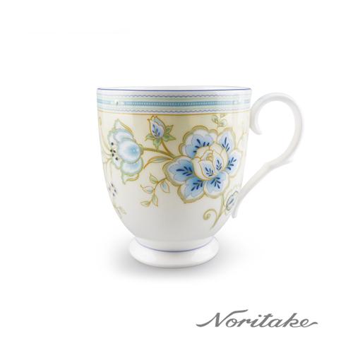 【日本Noritake】夏日風情-繡花藍馬克杯