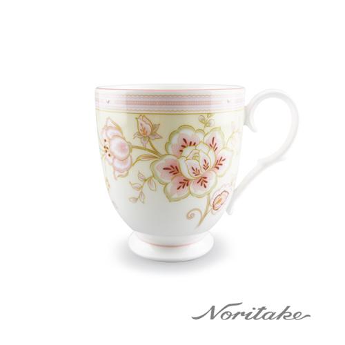 【日本Noritake】夏日風情-繡花粉馬克杯